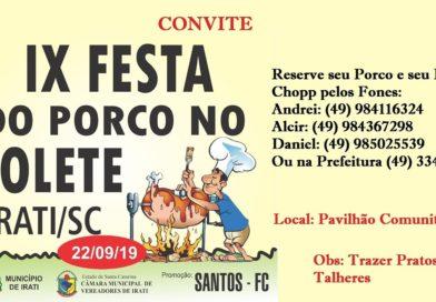 Irati se prepara para a Tradicional Festa do Porco no Rolete