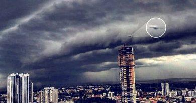 Foto de objeto estranho no céu de Ponta Grossa chama atenção nas Redes Sociais