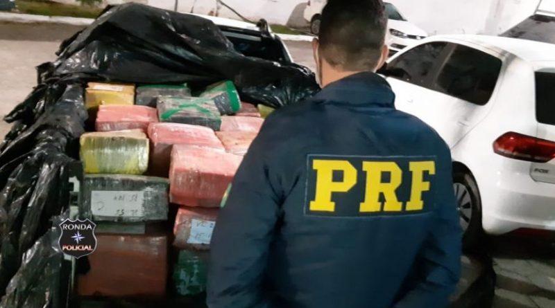 Três pessoas são presas com mais de meia tonelada de maconha na BR-282