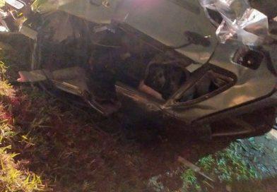 Acidente de trânsito na rodovia PR158 entre os municípios de São Lourenço do Oeste SC e Vitorino PR.