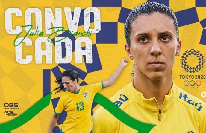 Jogadora do Oeste de SC é convocada pela Seleção para defender o Brasil nas Olímpiadas